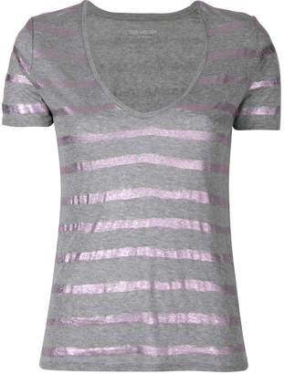 Zadig & Voltaire glitter stripped T-shirt