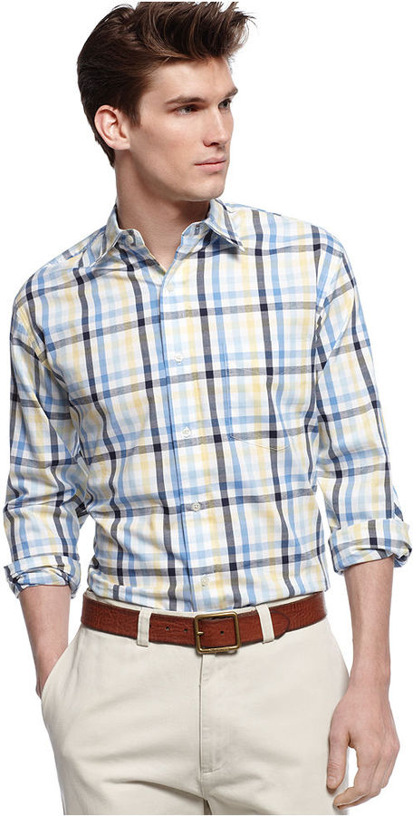Club Room Shirt, Multi Gingham