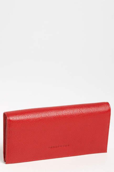 LONGCHAMP Veau Leather Wallet