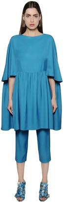 Gianluca Capannolo Flared Viscose Tunic Dress