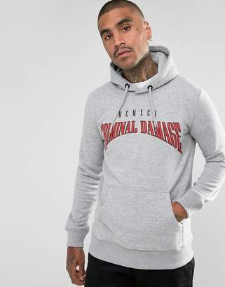 Criminal Damage Hoodie In Gray With Logo