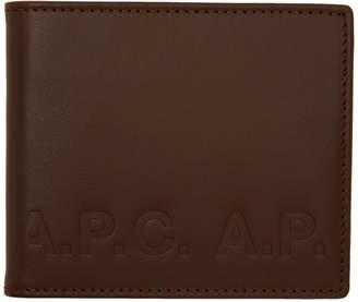 A.P.C. Brown Aly Logo Wallet