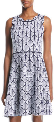 John & Jenn Jane Scalloped Fit & Flare Dress