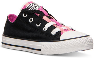 Converse Little Girls' Chuck Taylor All Star Loopholes Casual Sneakers from Finish Line $39.99 thestylecure.com