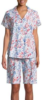 Karen Neuburger Two-Piece Floral Short-Sleeve Pajama Set