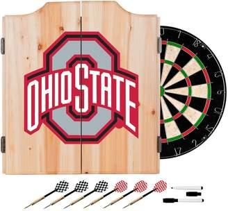 NCAA Kohl's Ohio State Buckeyes Wood Dart Cabinet Set
