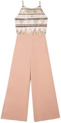 92ec09401d89a Amy Byer Iz Girls 7-16 IZ Sleeveless Striped Jumpsuit