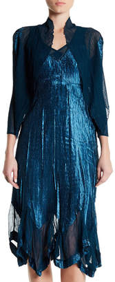 KOMAROV Handkerchief Hem Dress and Jacket Set $418 thestylecure.com