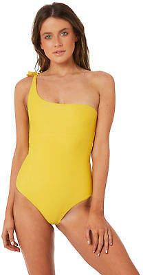 Sangria New Amore And Sorvete Women's Full Piece Nylon Spandex Yellow