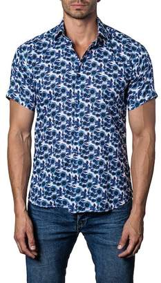 Jared Lang Short Sleeve Printed Shirt