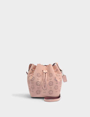 Coach Bucket Bag 16 in Peony Calfskin
