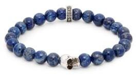 King Baby Studio Lapis Bead Skull Bracelet