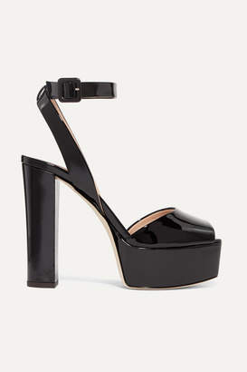 Giuseppe Zanotti Betty Patent-leather Platform Sandals - Black