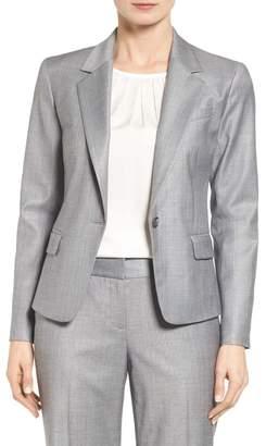 Classiques Entier R) Wool Blend One-Button Suit Jacket