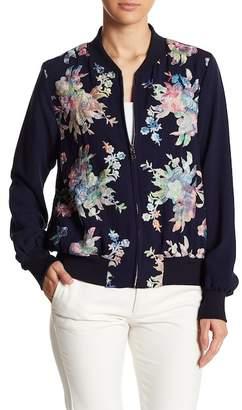Karen Kane Embroidered Bomber Jacket