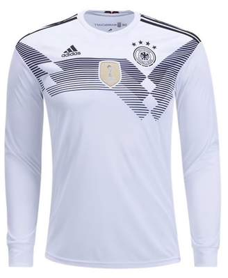 adidas Men's Germany Long Sleeve Home Soccer Jersey Climacool 2018 World Cup White