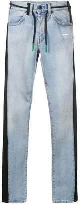 Off-White side stripe jeans