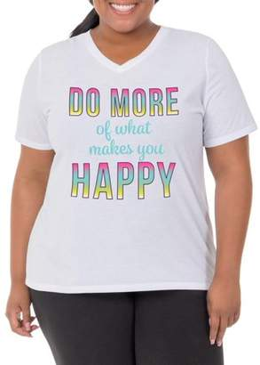 Fruit of the Loom Fit for Me by Women's Plus-Size Active Graphic Tee