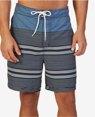 Nautica Men's Quick-Dry Engineered Stripe Swim Trunks $69.50 thestylecure.com