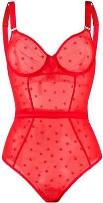 Stella McCartney star print lingerie bodysuit