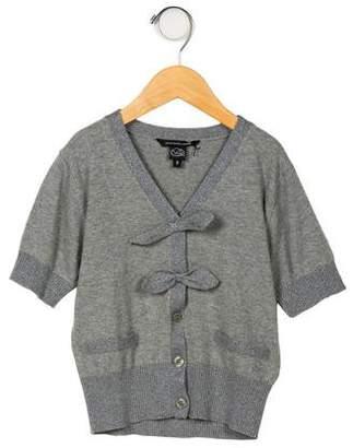Little Marc Jacobs Girls' Short Sleeve Cardigan Sweater