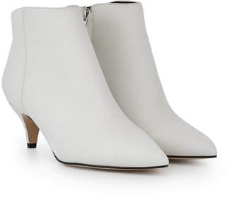 afdcd165e89 Sam Edelman White Leather Women's Boots - ShopStyle