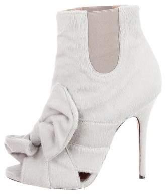 Jean-Michel Cazabat for Sophie Theallet Ponyhair Peep-Toe Boots