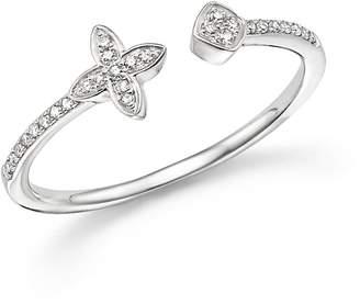 KC Designs 14K White Gold Diamond Open Stacking Ring