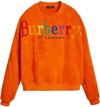 Burberry Archive Logo Towelling Sweatshirt