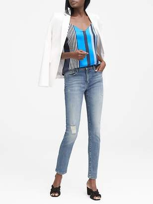 Banana Republic Petite Skinny Light Wash Jean