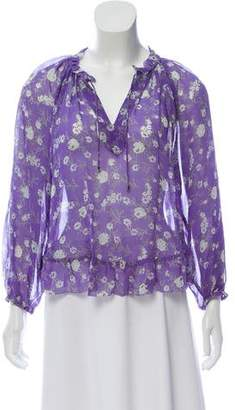 Ulla Johnson Floral Long Sleeve Top w/ Tags