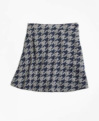 Brooks Brothers Girls Jacquard Houndstooth Skirt