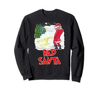 Ugly Christmas Sweater Bad Santa Funny Xmas Gift Jumper