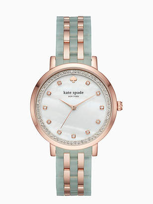 Kate Spade Monterey mint and rose gold-tone bracelet watch
