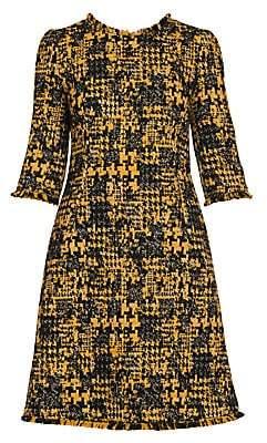 Dolce & Gabbana Women's Fringe Trim Tweed Dress