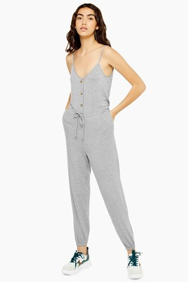Topshop Womens Super Soft Lounge Jumpsuit - Grey