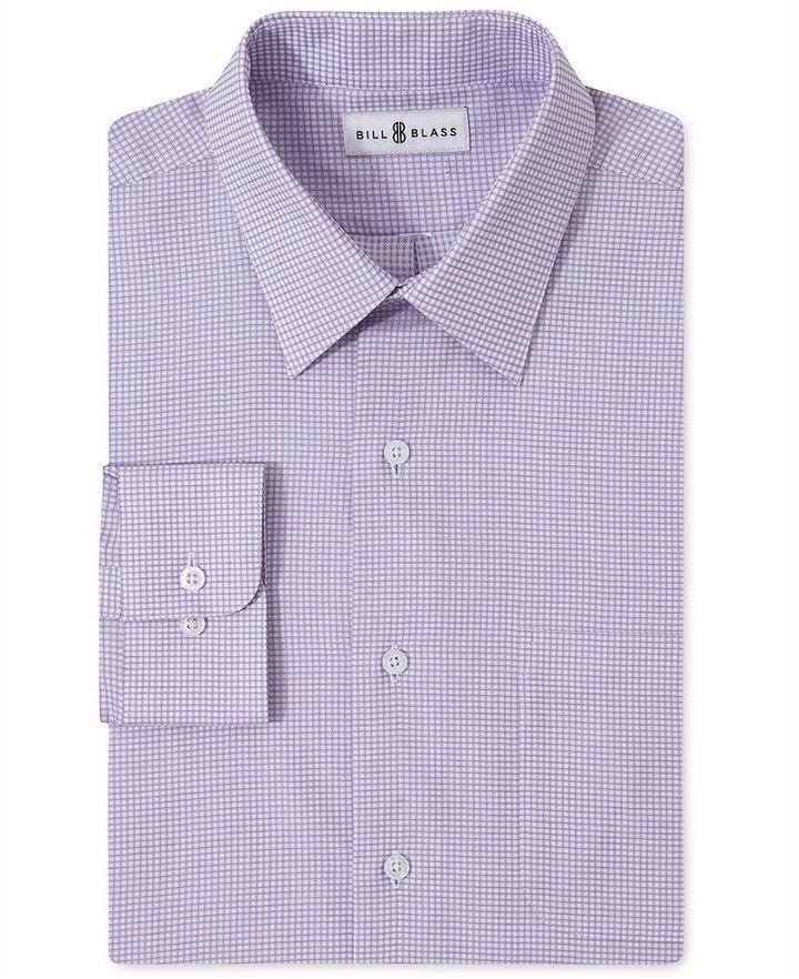 Bill Blass Dress Shirt, Lavender Check Long Sleeve