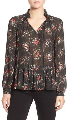 Ro & De Floral Print Poet Blouse $79 thestylecure.com
