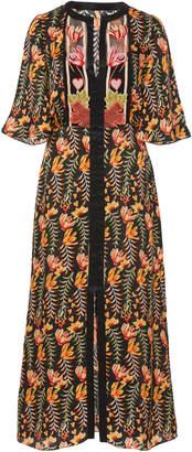 Temperley London Rosy Printed Organza Dress