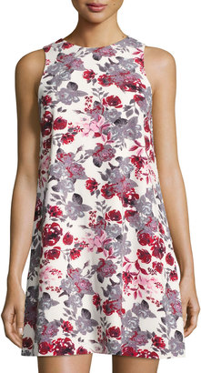 kensie Floral-Print Shift Dress, Multi $65 thestylecure.com