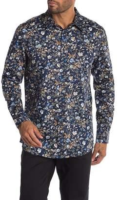 Perry Ellis Floral Print Slim Fit Shirt