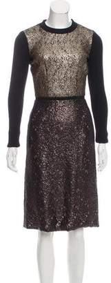 Peter Som Metallic Midi Dress