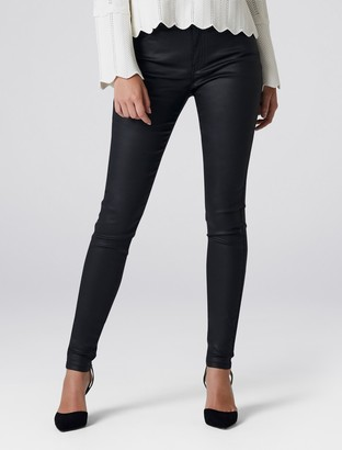 Forever New Ivy Mid Rise Full Length Skinny Jean - Wax Black - 4