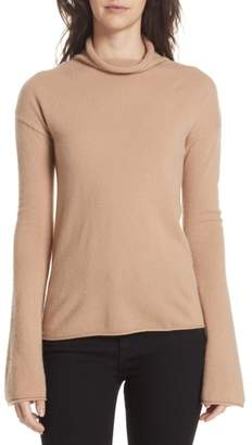 Theory Cashmere Funnel Neck Sweater