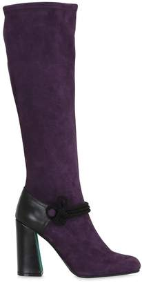 Antonio Marras 100mm Suede Stretch Over The Knee Boots