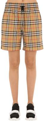 Burberry Check Shorts W/ Side Bands