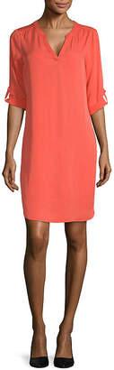 WORTHINGTON Worthington 3/4 Sleeve Shift Dress-Tall