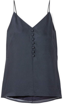 Hillier Bartley - Polka-dot Silk Crepe De Chine Camisole - Navy