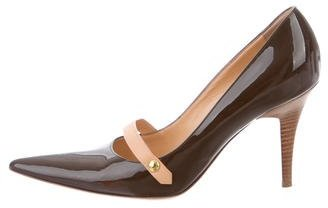 Louis Vuitton Pointed-Toe Mary Jane Pumps