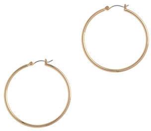 Nine West Pierced Gold Large Hoop Earring